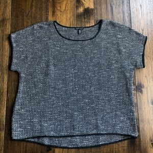 Eileen Fisher Sweater. Black/white blended colors
